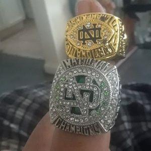 Set of 2 Notre Dame fighting irish championship RI